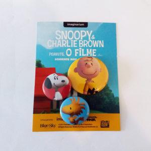 Brinde para Filme - Botton Promocional Snoopy