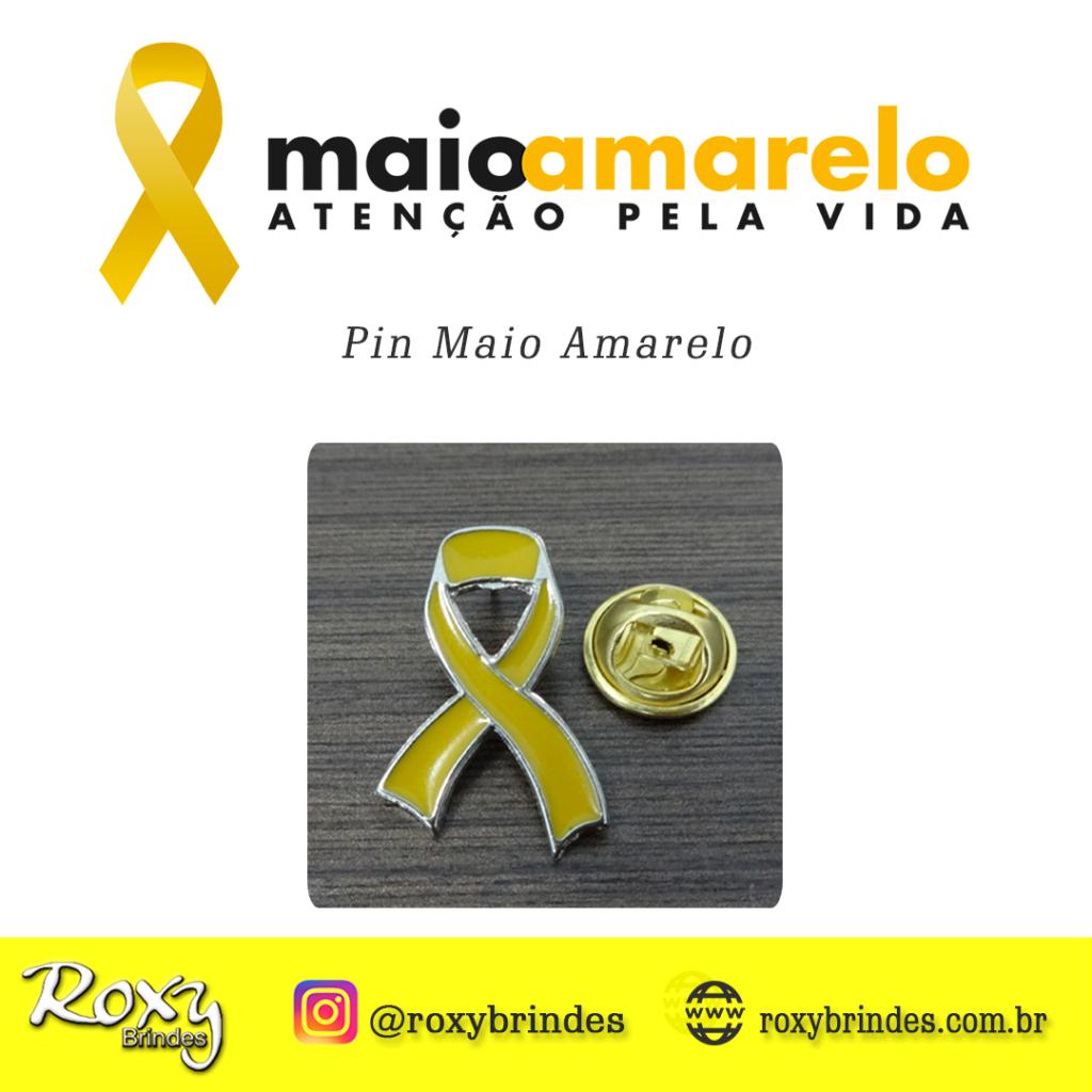 Pin Personalizado Maio Amarelo