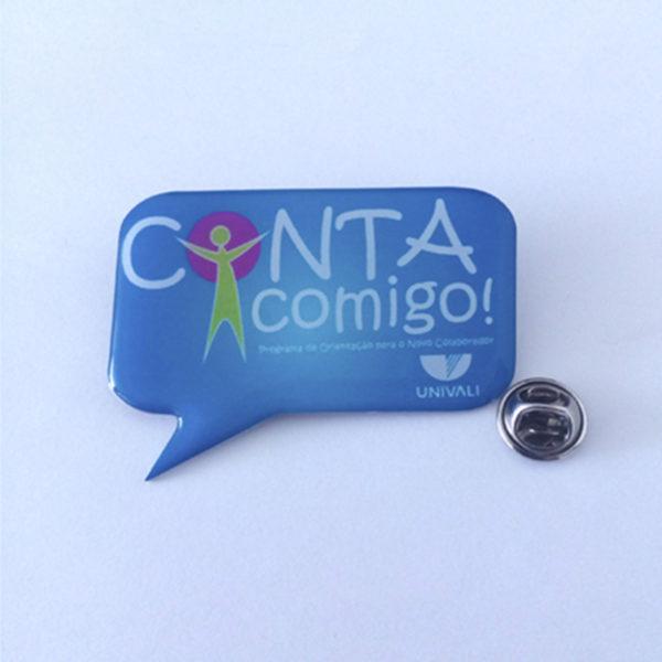 Pin e Broche Personalizado - Frente